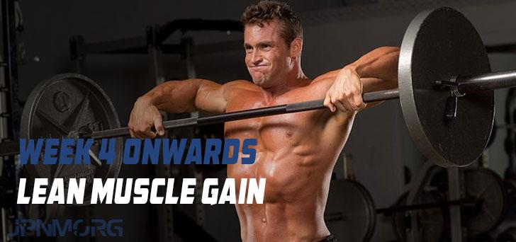 Guadagno muscolare magra - Settimana 4 in poi (molto mite)