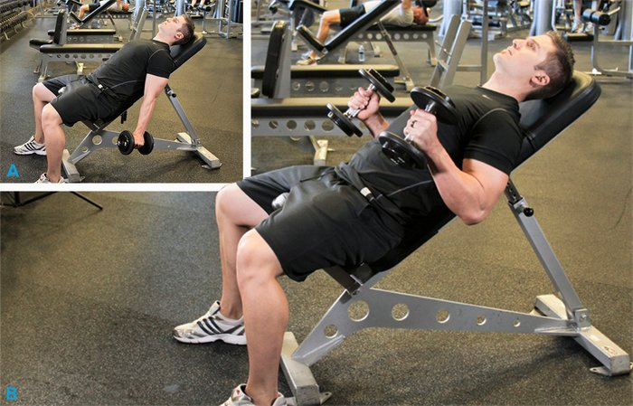 Inclina Dumbbell Hammer Curl